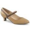 FAB-425 Tan/Brown Faux Leather